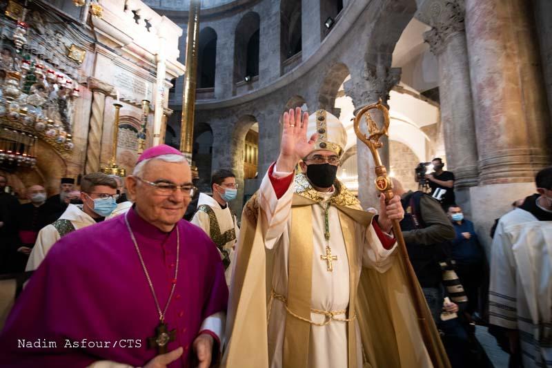 Uroczyste wejście i pierwsza Msza św. w Bazylice Bożego Grobu nowego Patriarchy łacińskiego